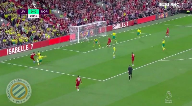 (Video) Origi work down the left forces nasty Norwich O.G