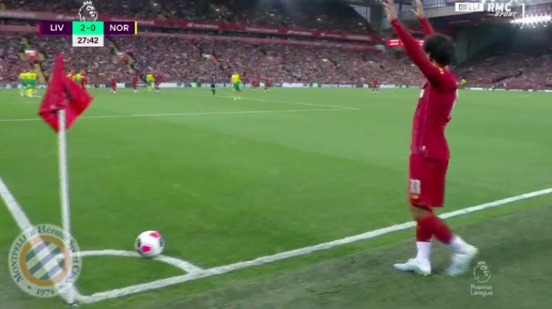 (Video) Virgil van Dijk's power-header puts Reds 3-0 up