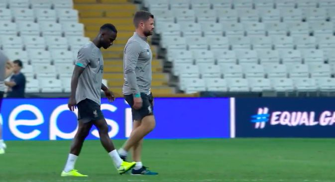 (Video) Keita looks very worried as he limps out of training