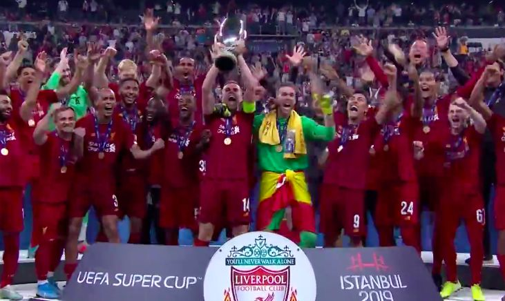 (Video) Henderson's trophy lift glorious, but what is Matip doing…