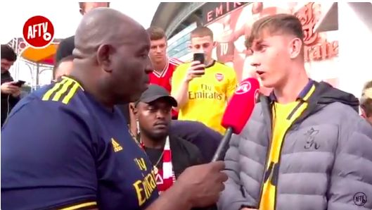 (Video) Arsenal fan slags off Joe Gomez & reckons Gunners will beat Liverpool