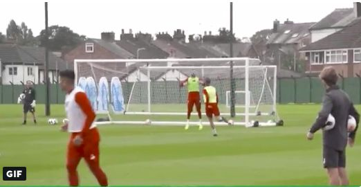 (Video) Watch Henderson take the p*ss out of LFC keeper in training