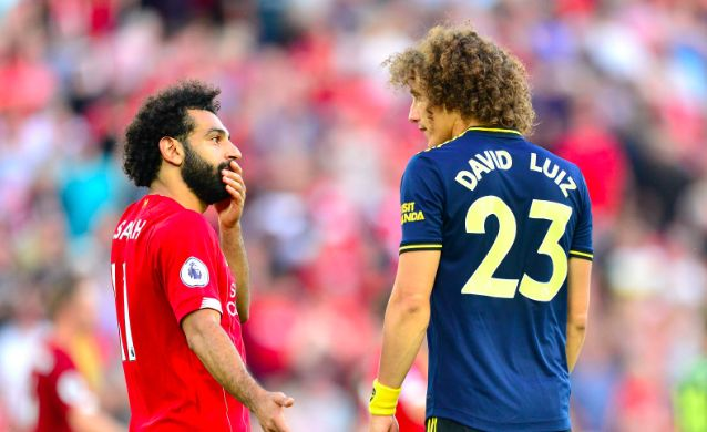 David Luiz makes bizarre point on Salah penalty & extra large shirts