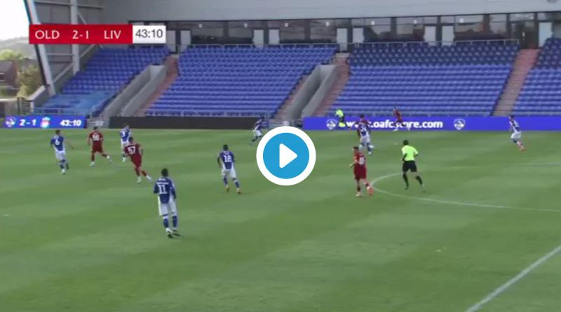 (Video) Harvey Elliott scores his first goal for the Reds against Oldham