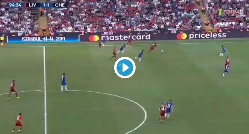 (Video) Sadio Mane's unreal goal to fire Reds into Super Cup lead