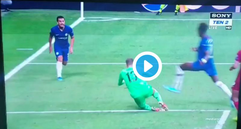 (Video) VAR somehow refuses to chalk off Chelsea penalty – despite Adrian pulling out