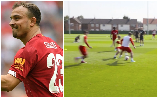 (Video) Xherdan Shaqiri produces skills under pressure at Melwood with his starting chance set to arrive