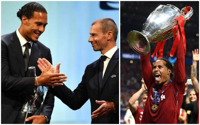 The next awards Virgil can get his hands on after UEFA prize