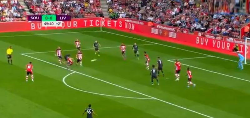 (Video) Mane fires LFC ahead with thunderbolt into top corner v. Southampton
