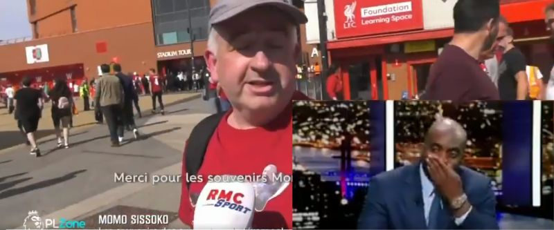 (Video) Momo Sissoko gets visibly emotional as LFC fans describe love for him