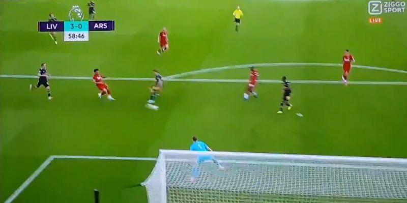 (Video) Salah skins Luiz to bag incredible solo goal to put LFC 3-0 up v. Arsenal