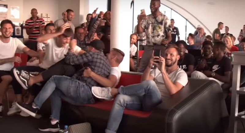 (Video) Salzburg players' reacting to drawing Liverpool in the Champions League is priceless