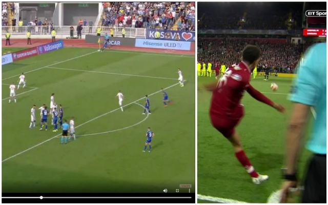 (Video) Kosovo replicate Trent Alexander-Arnold's famous Barcelona corner kick in Euro 2020 qualifier