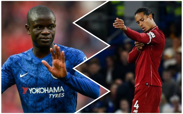 (Video) Virgil van Dijk's smirk as N'Golo Kante loses possession is brilliant