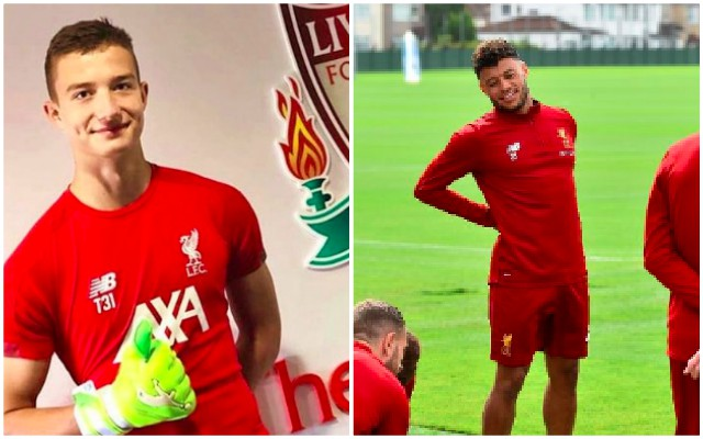 (Images) New LFC signing spotted at Melwood towering over Oxlade-Chamberlain