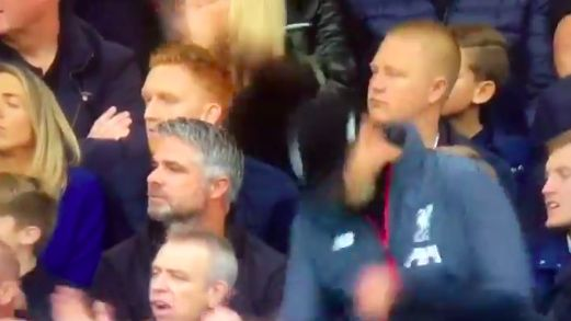 (Video) LFC fan celebrates Trent goal, then remembers she's sat in Chelsea stand