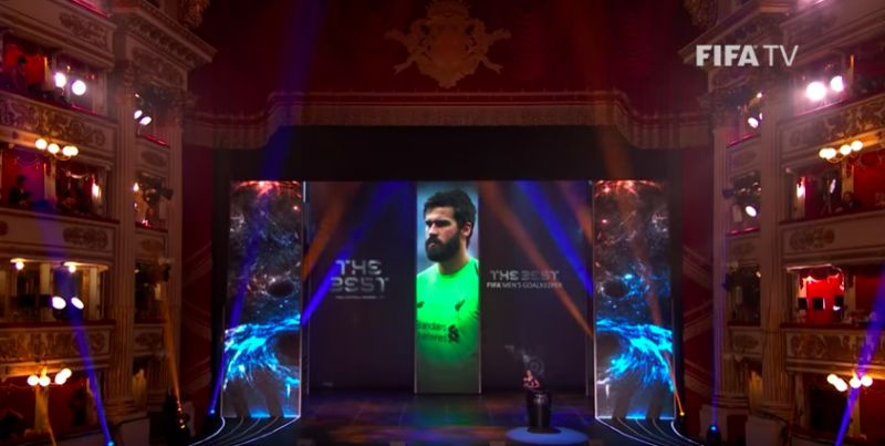 (Video) Klopp laughs as Alisson Becker gets lost on way to FIFA Best Goalkeeper award