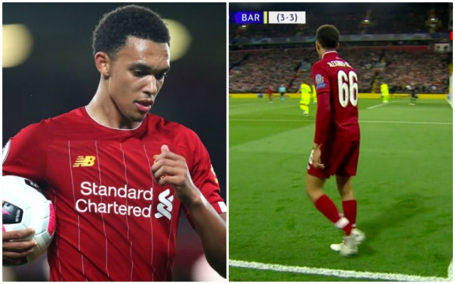 Trent Alexander-Arnold explains the risk he took just before that Barcelona corner kick