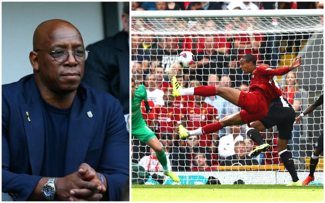"""I'm annoyed with that"": MOTD pundit Ian Wright fumes at what he saw at Anfield against Newcastle United"