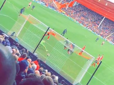 (Video) LFC's goal against Sheffield Utd looks even more flukey from the stands