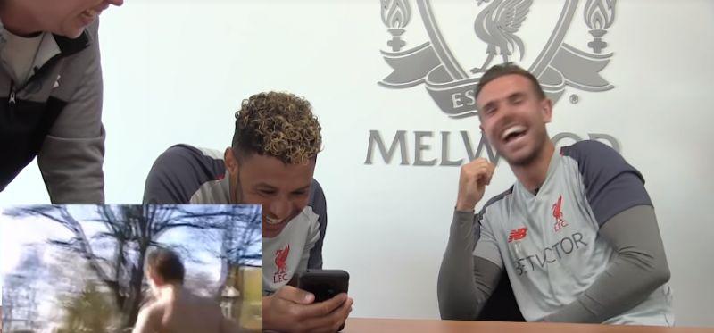(Video) Henderson & Oxlade-Chamberlain react to teenage Hendo skills video