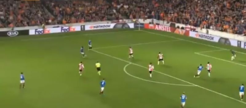 (Video) Ojo scores belter of a goal for Rangers in the Europa League