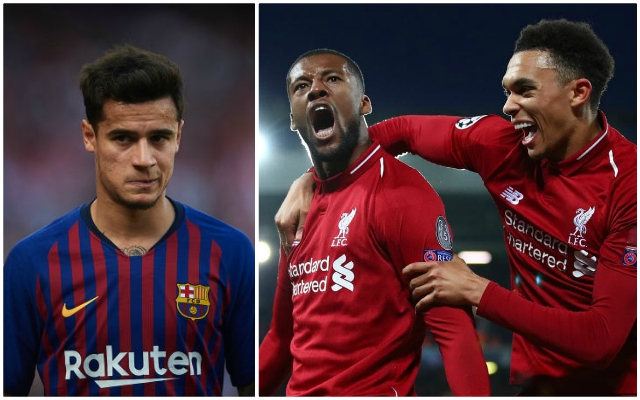 (Photo) Philippe Coutinho's dressing room reaction to Barca's Anfield drubbing has emerged…