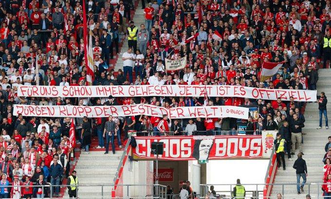 (Photo) Mainz fans unveil brilliant banner for LFC boss Jurgen Klopp