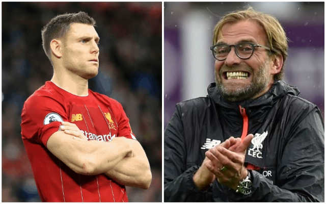 """He seems to judge it right"": James Milner names his favourite thing about Jurgen Klopp"