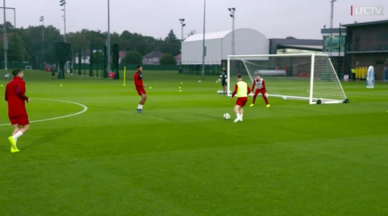 Harvey Elliott causes LFC keepers nightmares in training with the 'pace and such precision' of his finishing