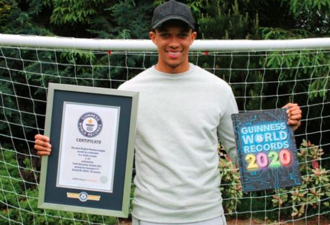 Trent Alexander-Arnold named in Guinness Book of World Records 2020