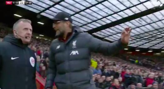 (Video) Klopp rages on touchline after ridiculous VAR decision