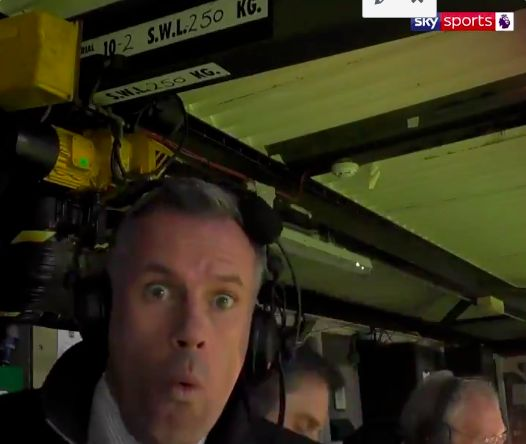 (Video) Carragher hilariously celebrates Lallana goal in commentary box