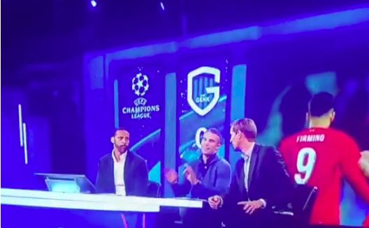 (Video) Van Persie caught drooling over Firmino before Lineker cuts him off