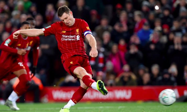 Liverpool predicted XI v. Everton – Milner to start the Merseyside Derby