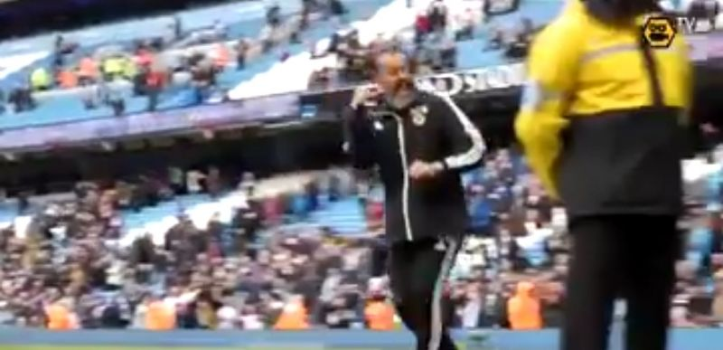 (Video) Nuno copies Klopp's celebration after shock City win for Wolves