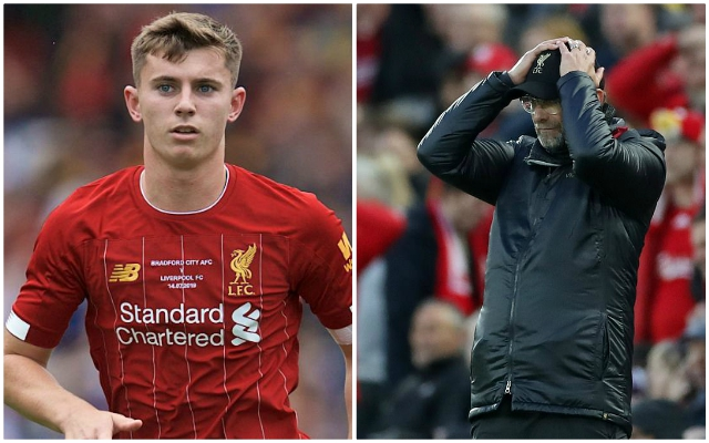Reds man heading back to Melwood after sustaining injury while out on loan