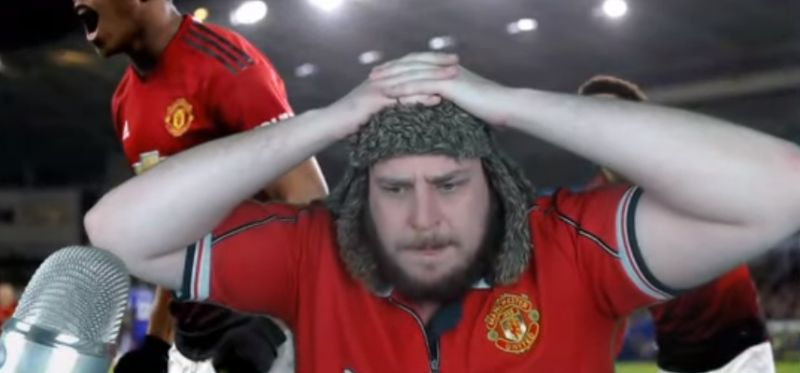 (Video) Man Utd fan's reaction to Lallana goal after slating him is priceless