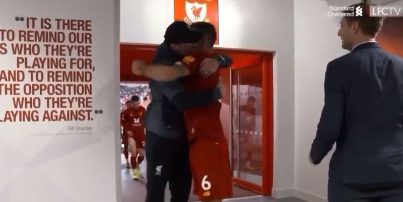 (Video) Klopp's big hug with Lovren after win show the boss' man-management is second to none