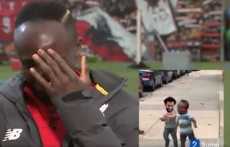 (Video) Mane reacts to meme of him & Salah hugging after outburst at Burnley