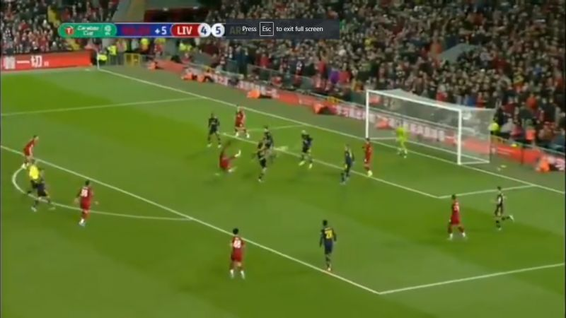 (Video) Origi the savour again as he pulls Liverpool level against Arsenal at 5-5