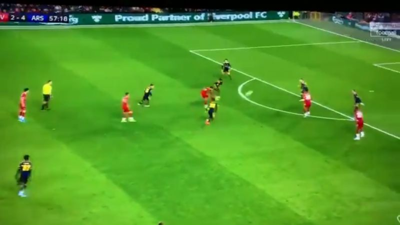 (Video) Ox has maybe never hit a better volley, as LFC star breaks former club's net at Kop end