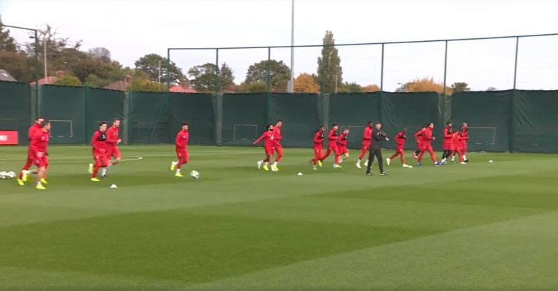 (Video) Mo Salah trains with Liverpool squad ahead of Genk clash
