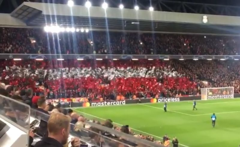 (Video) Salzburg fans produce snazzy mural in away end at Anfield