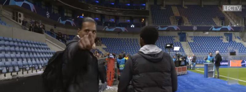 (Video) van Dijk clocks LFCTV & stops cameraman in his tracks in funny clip