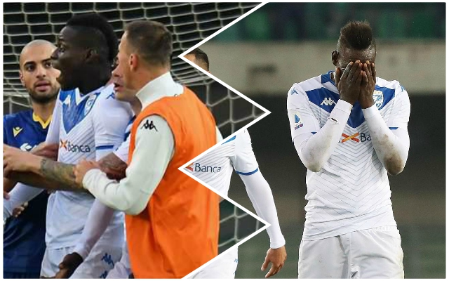 Ex-Red Mario Balotelli threatens to leave the pitch over racist chants before scoring for Brescia