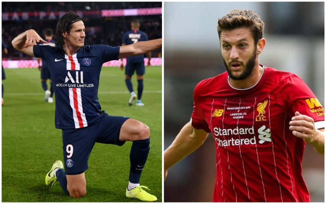 PSG reportedly want to replace Edinson Cavani with Liverpool man Adam Lallana