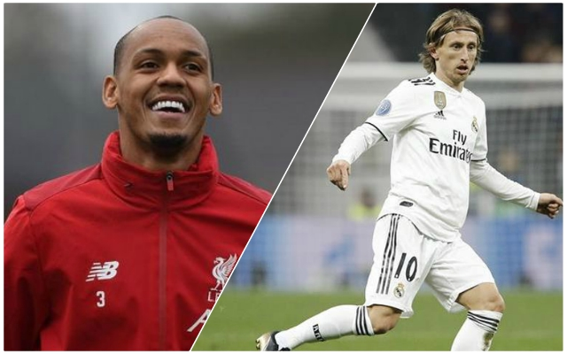 Real Madrid reportedly want Reds man Fabinho to replace Luka Modric next summer