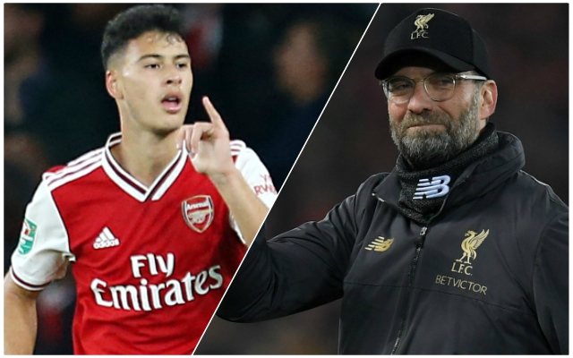 "Jurgen Klopp labels 18-year-old Arsenal striker Gabriel Martinelli as ""talent of the century"""