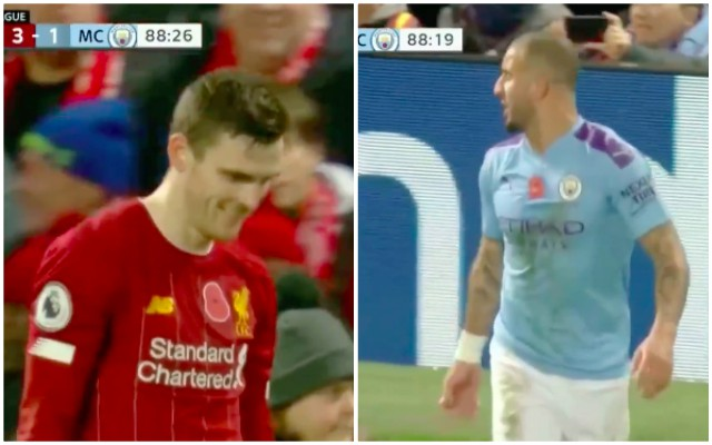 (Video) Robbo gets in Kyle Walker's head and laughs at City's fullback